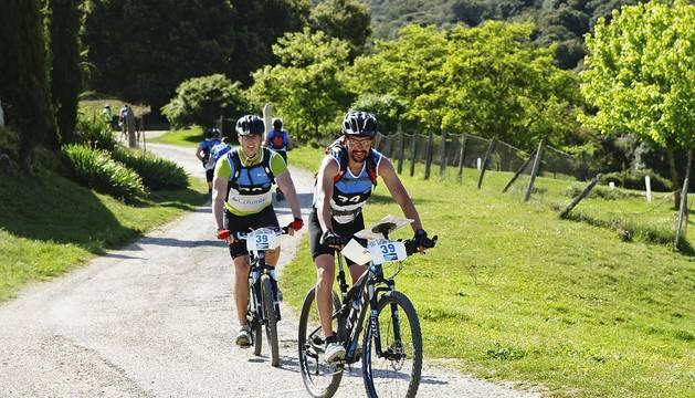 Sesenta kilómetros del circuito se realizaron en bicicleta.