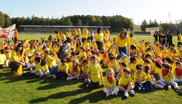La competición comenzó en el campo de fútbol de Caparroso.