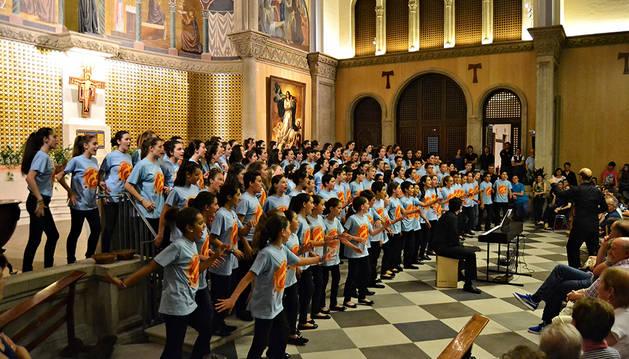 Imagen de un concierto de los coros.