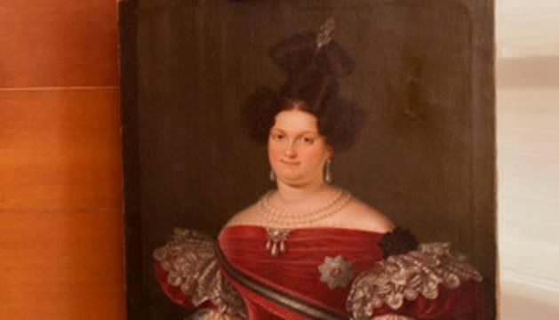 El cuadro recuperado por el museo.