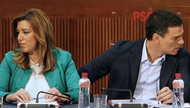 Susana Díaz y Pedro Sánchez, hace algunos meses.