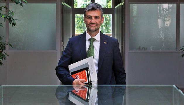 Alfonso Carlosena, nuevo rector de la UPNA.