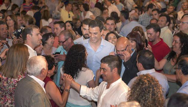 Sánchez, en un acto electoral celebrado en Jaén.