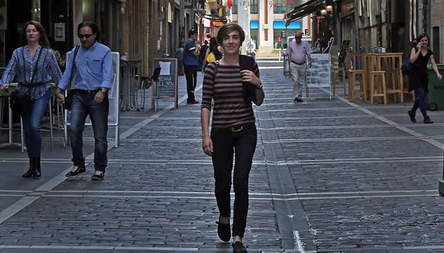 Ana Lizoáin, candidata de Aranzadi al Ayuntamiento de Pamplona.