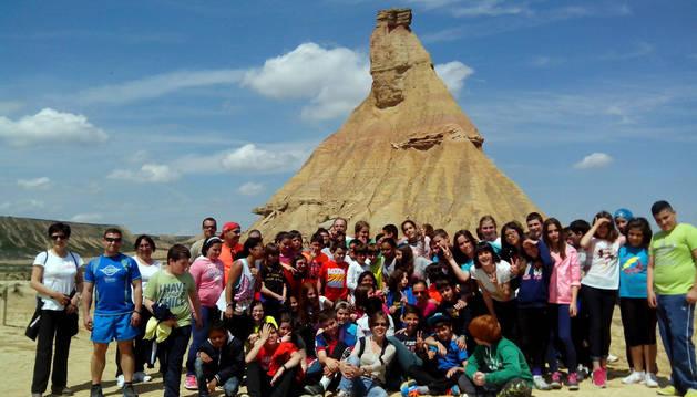 Visita a las Bardenas de los alumnos del colegio de Corella