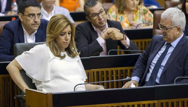 Susana Díaz, tras la votación.