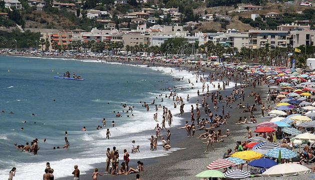 Playa de la Herradura de Granada.