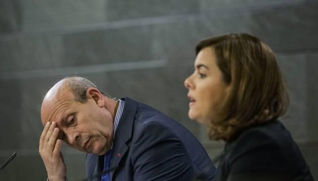 Sáenz de Santamaría y Wert, tras la reunión del Consejo de Ministros.