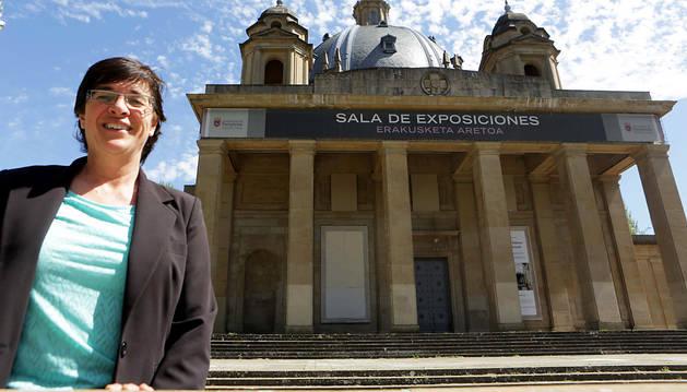 Edurne Eguino Sasiáin, candidata de I-E al Ayuntamiento de Pamplona.