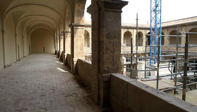 Obras en el Monasterio de Fitero.