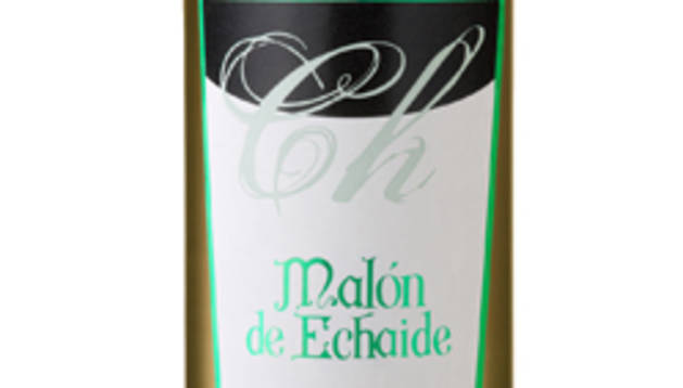 Una botella de vino de Bodegas Malón de Echaide.