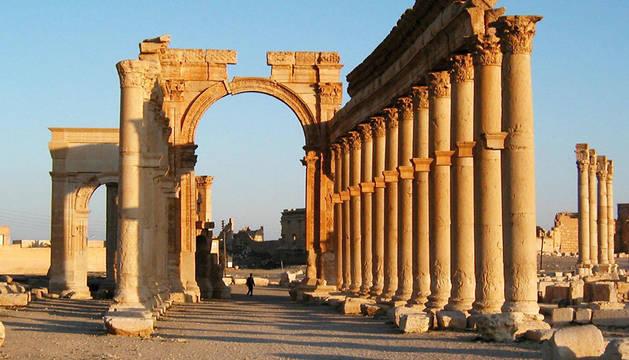 El tesoro arqueológico de Palmira en Siria.