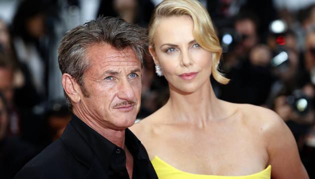 Sean Penn y Charlize Theron, en el Festival de Cannes.
