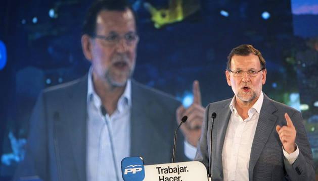 Rajoy, este viernes durante un mitin en Vigo.