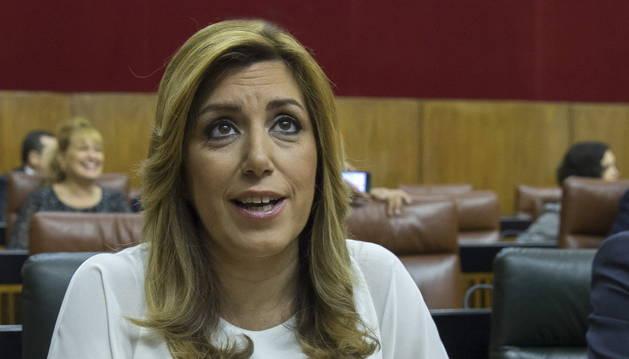 La presidenta de la Junta de Andalucía en funciones, Susana Díaz.