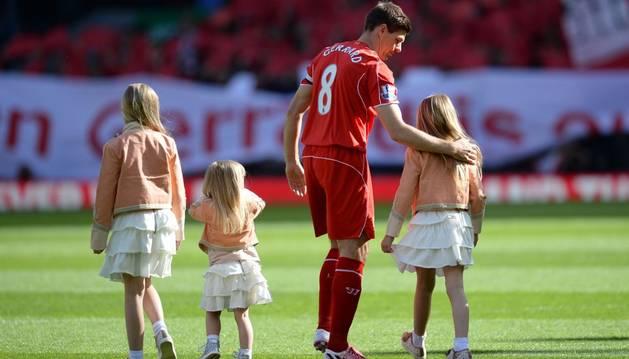 Gerrard, en su despedida.