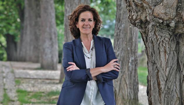 itziar Gómez lópez candidata de geroa bai al ayuntamiento de Pamplona.