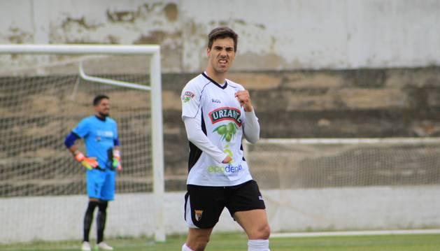 Álex Sánchez, máximo goleador del Tudelano.