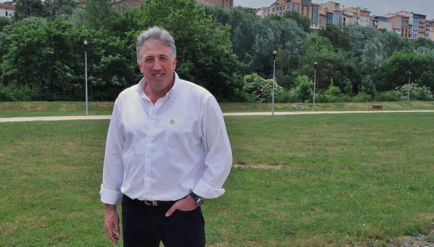 Joseba Asiron Saez, candidato de EH Bildu al Ayuntamiento de Pamplona.