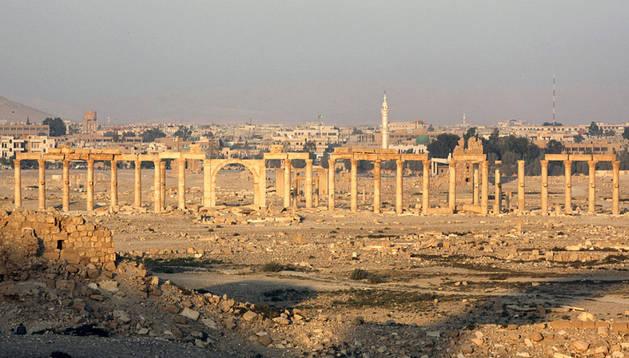 Foto de archivo de Palmira, una de las joyas arqueológicas de Oriente Medio.