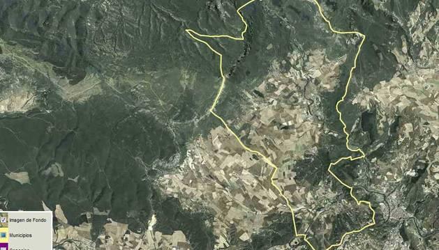 El Valle de Allín en el visor del SITNA.