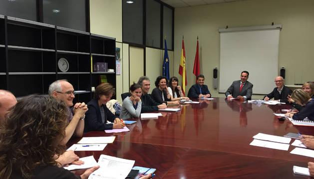 Un momento de la reunión del Consejo de Cooperación.