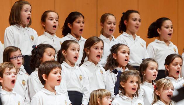 Coro joven del Orfeón Pamplonés.