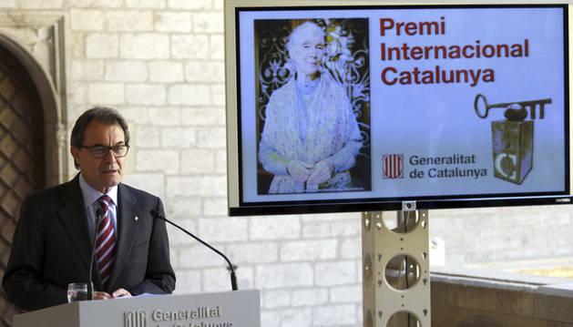 Artur Mas anunció el nombre de la ganadora.