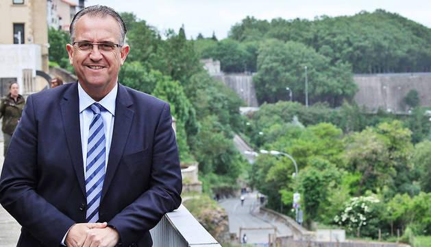 Enrique Maya, candidato de UPN a la Alcaldía de Pamplona.