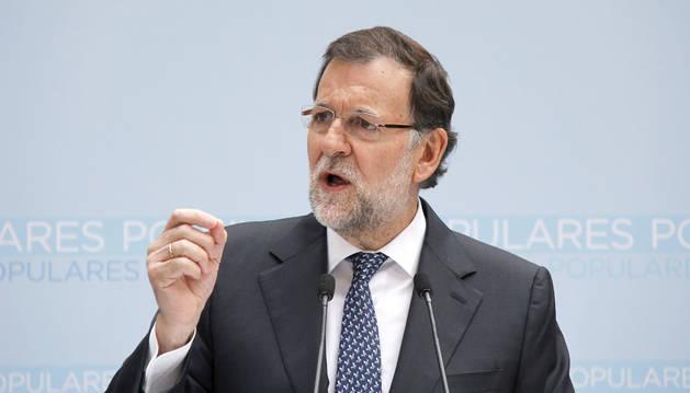 Rajoy, esta mañana en Pamplona.