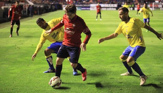 Imágenes del partido disputado este martes en El Sadar.