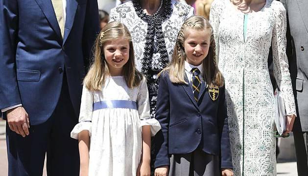 Fotografías de la primera comunión de la princesa Leonor.