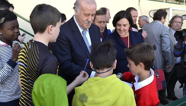 Vicente Del Bosque visita Oberena