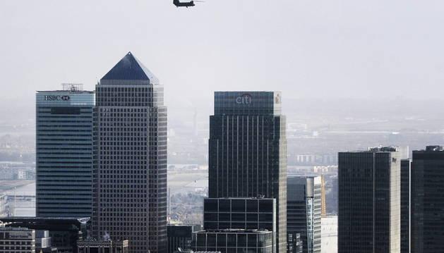 El distrito financiero de Canary Wharf, en Londres.