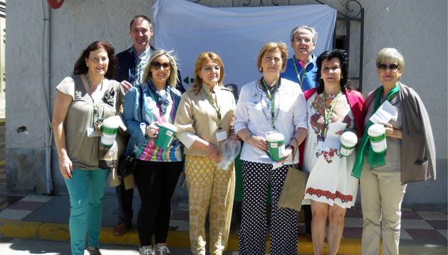Voluntarios que participaron en la cuestación.