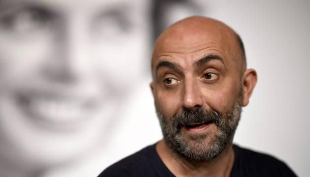 El director argentino Gaspar Noé asiste en la rueda de prensa de la película 'Love'.