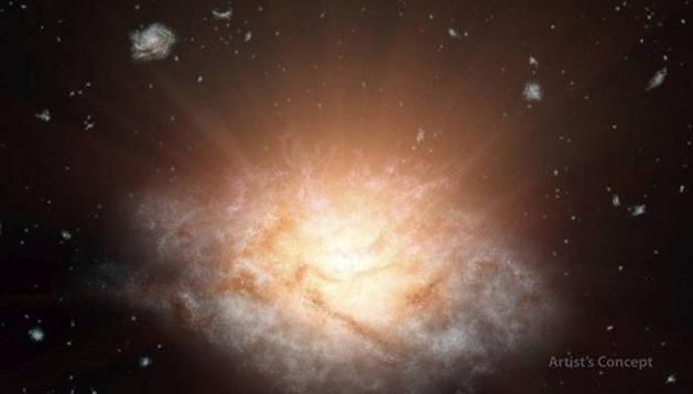 La galaxia más luminosa.