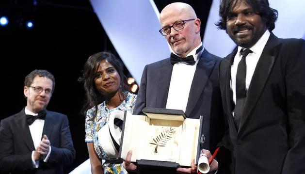 El Festival de Cannes barre para casa en la entrega de premios