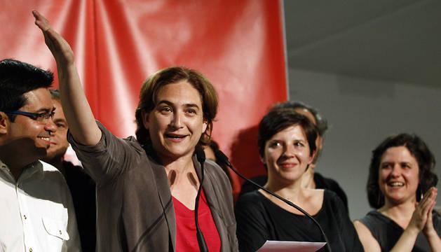 Ada Colau, ganadora en Barcelona.