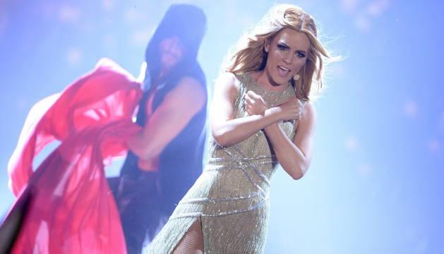 Edurne, durante su actuación en Eurovisión 2015