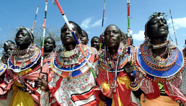 Un grupo de mujeres masai.