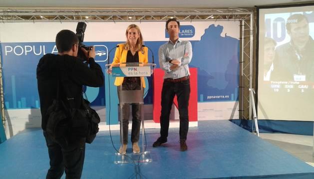Ana Beltrán y Pablo Zalba, en su comparecencia.