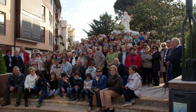 Vecinos de Cascante participantes en la fiesta.