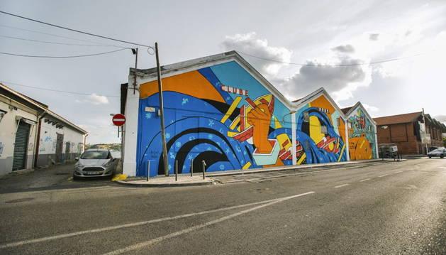 Una obra plasmada en un edificio de Lisboa.
