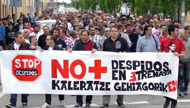 Protesta por los despidos celebrada el pasado 25 de abril.