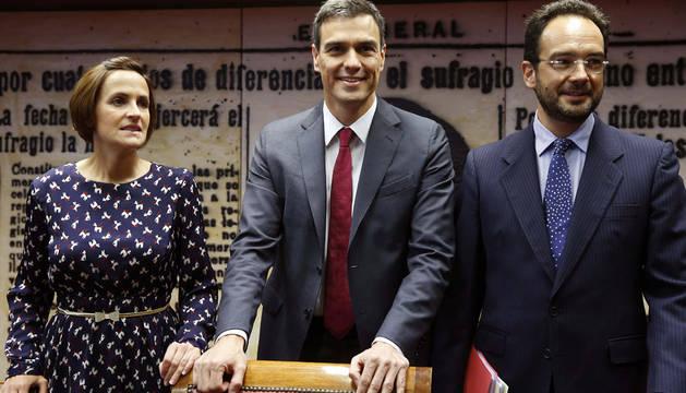 Chivite, Sánchez y Antonio Hernando.