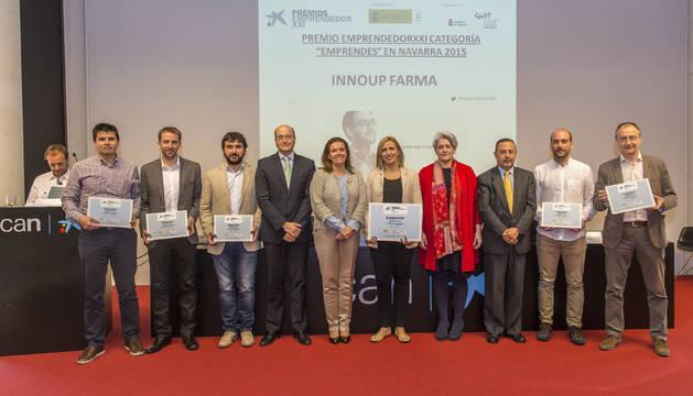 La empresa InnUp Farma, constituida en enero y dedicada a la innovación nanotecnológica en la administración de fármacos por vía oral, ha sido la ganadora este año de los Premios EmprendedorXXI en Navarra.