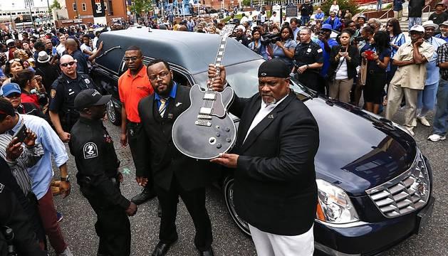 Funeral de B.B. King en la calle Beale de Memphis.