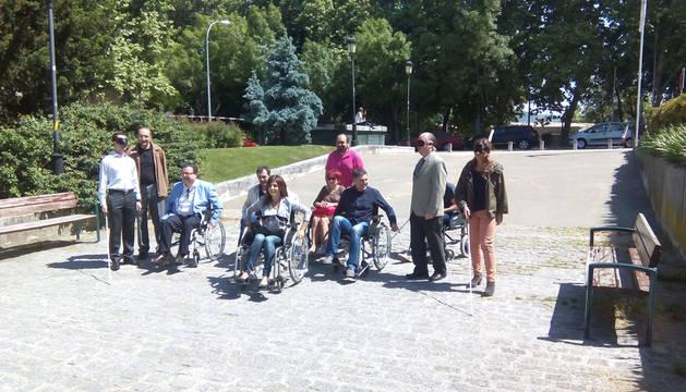 Empresarios 'discapacitados' por un día.