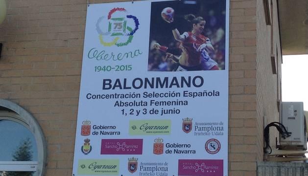 Cartel de la concentración de la selección española de balonmano.
